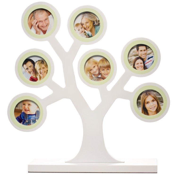 Fotoram Familjeträd, Vit, Tiny Ideas