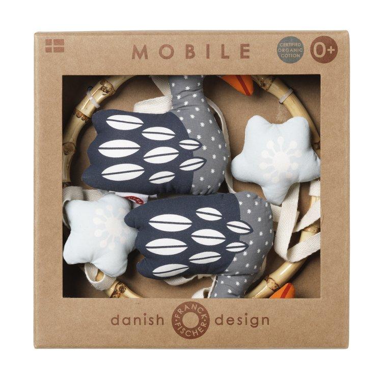 Fly dark swan mobile från Franck & Fischer i förpackning