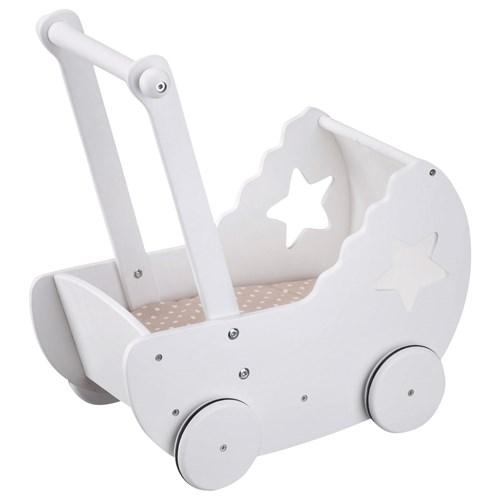 Dockvagn, Star, Vit, Kids Concept