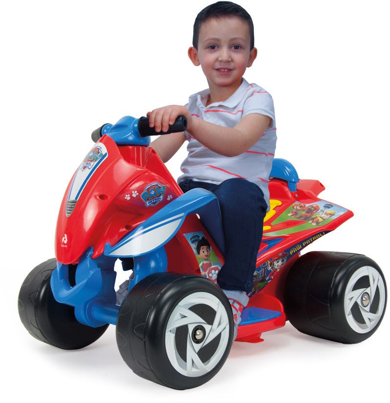 Bubblare 2: Paw Patrol Elbil Fyrhjuling, Röd/Blå