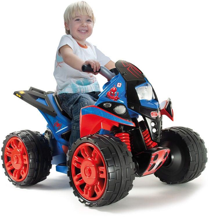 Bubblare 1: Injusa Elbil Fyrhjuling Spiderman, Röd/Blå